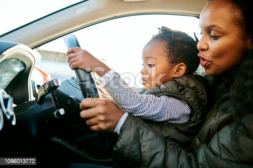 istock Her first driving lesson came from mom 1096013772