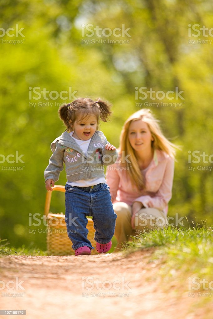 Her First Steps... royalty-free stock photo