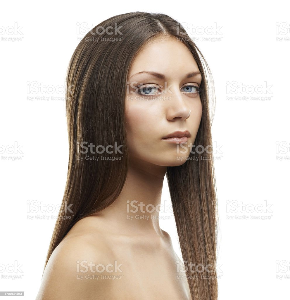 Her gaze is locked on you royalty-free stock photo