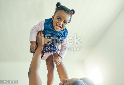 Shot of an adorable little girl bonding with her mother at home