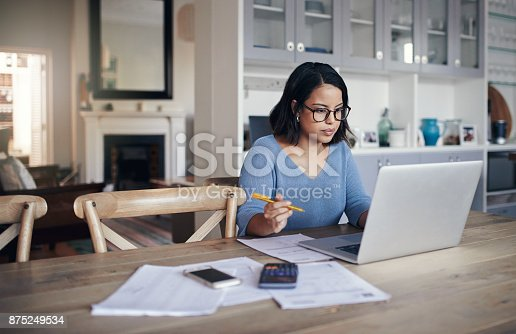 istock Her home is a place for productivity 875249534