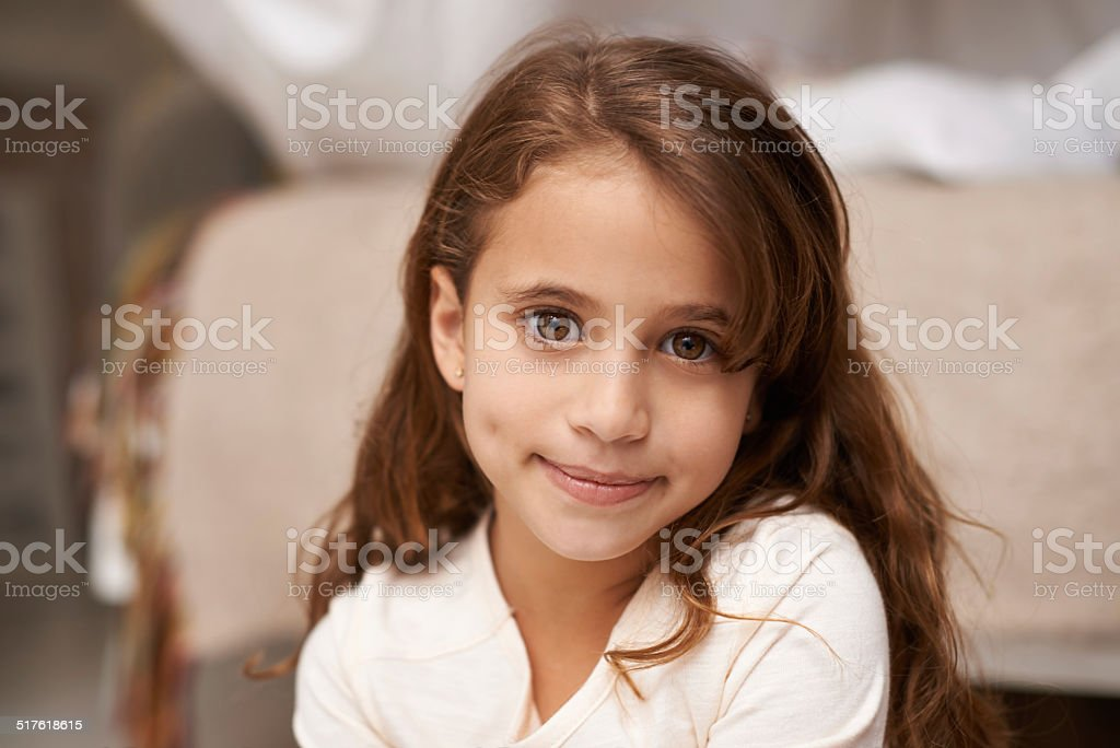 Her imagination is her playground stock photo