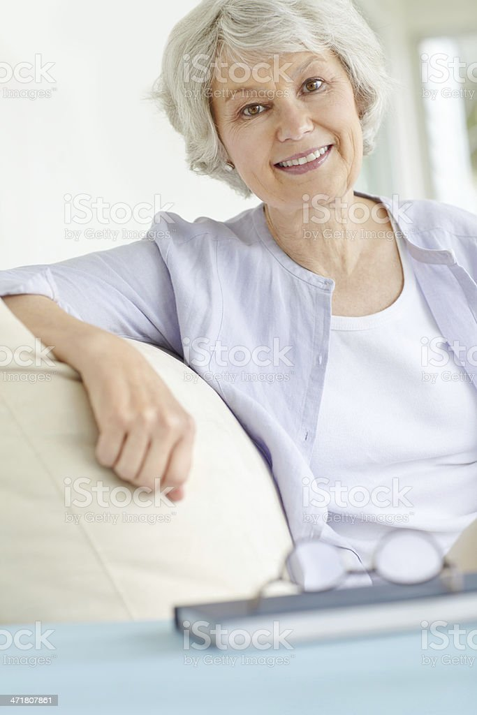 Her imagination is inspired by reading stock photo