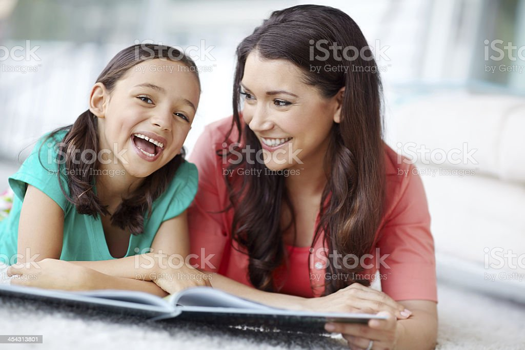 Her laugh is music to my ears stock photo