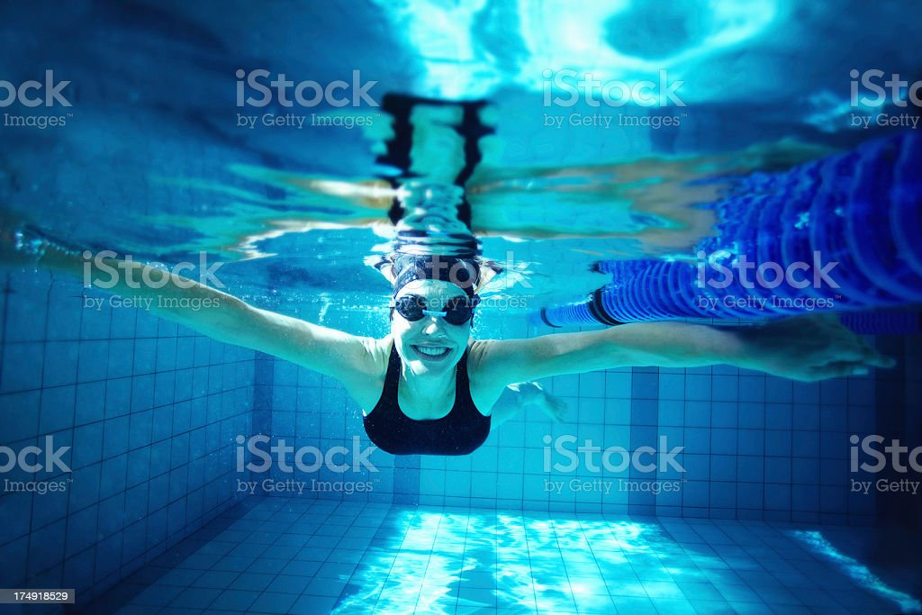 Her love of water shows stock photo