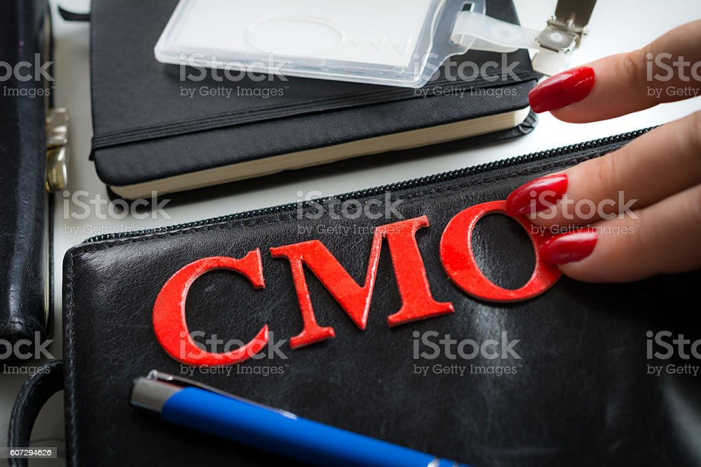 Her new CMO job after breaking the glass ceiling stock photo