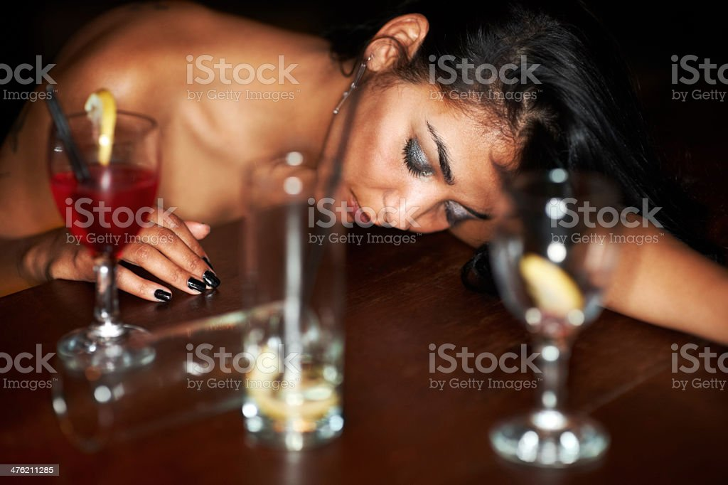 Her night is at it's end stock photo