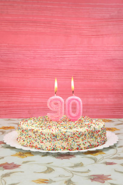 her ninetieth birthday - number 90 stock photos and pictures