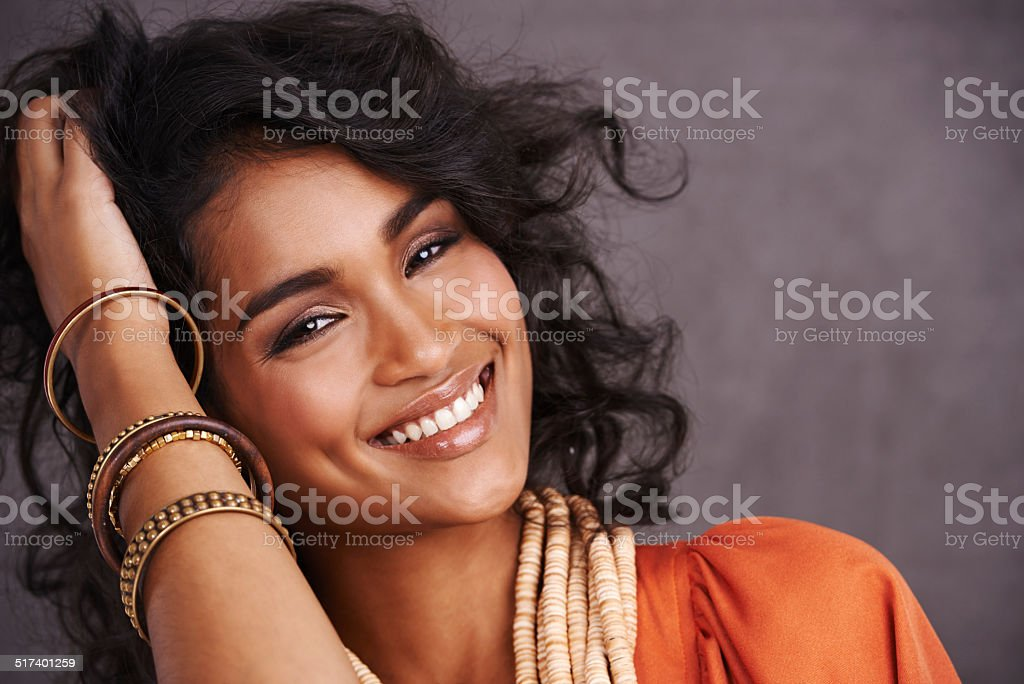 Her own kind of beautiful stock photo
