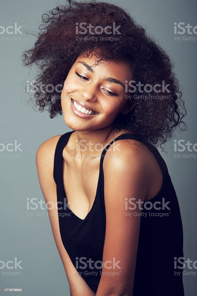 Her personality shines through stock photo