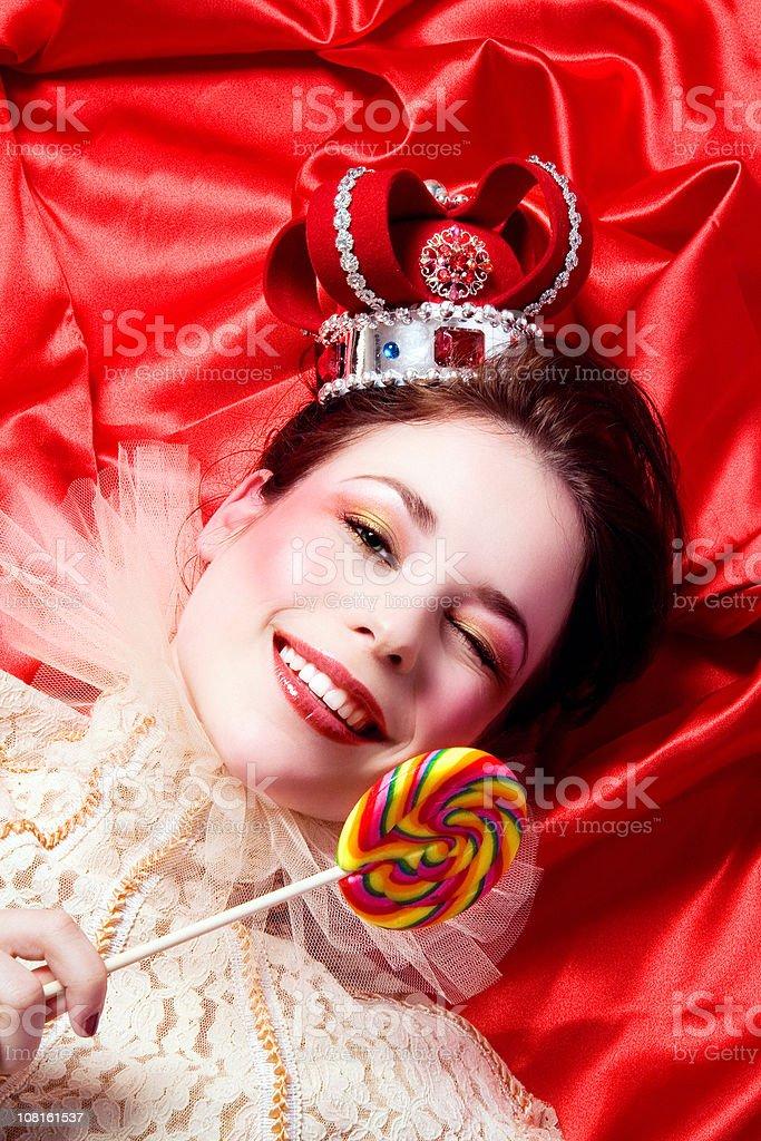 Her Playful Majesty royalty-free stock photo