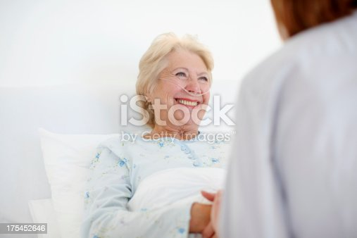 504241549istockphoto Her positive outlook helps with the healing - Senior Care 175452646