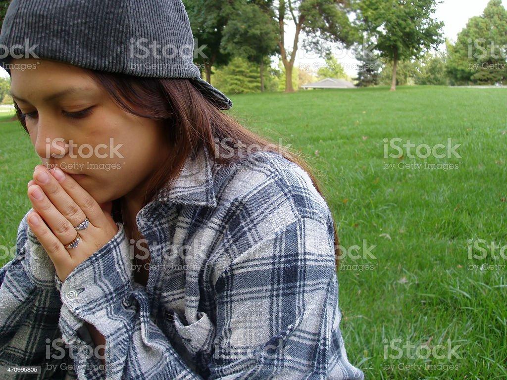 Her prayers stock photo