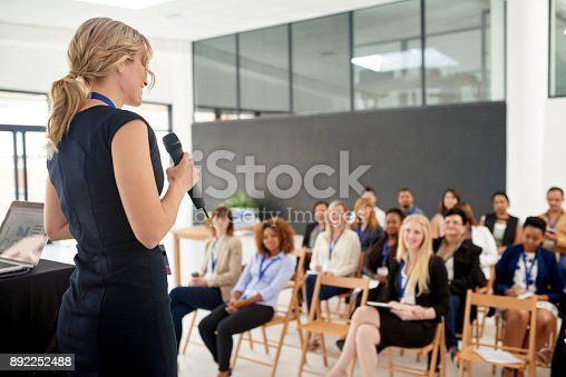 istock Her presentation leaves an impact on her colleagues 892252488
