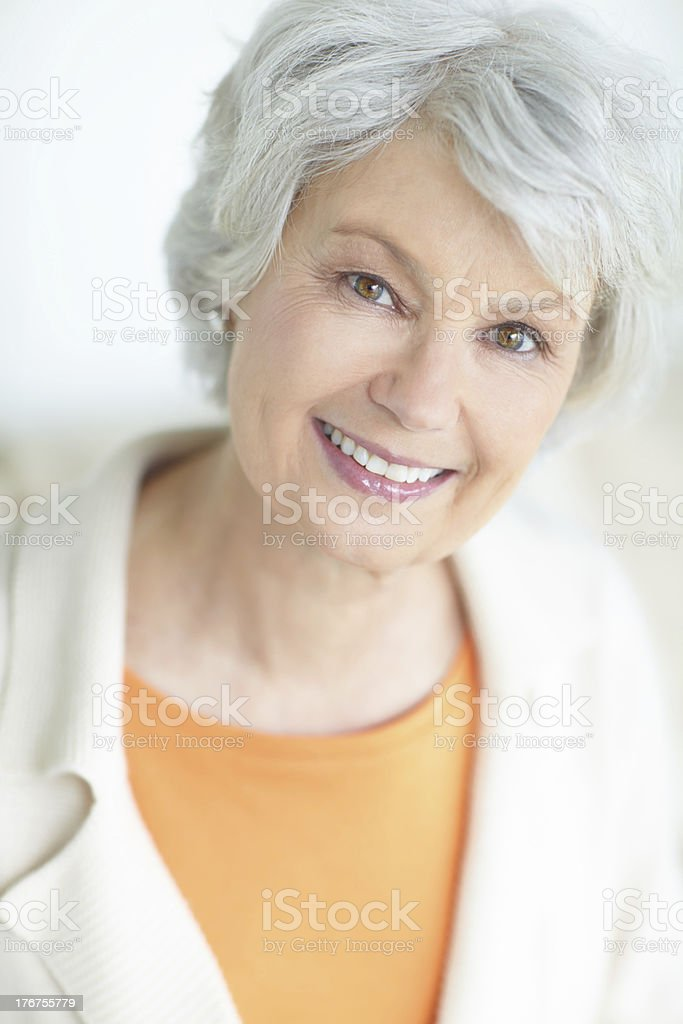 Her retirement is a stress-free affair stock photo