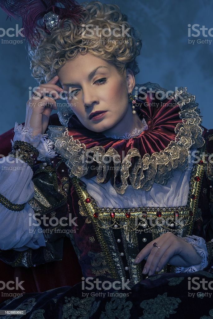 Her royal highness sitting on throne royalty-free stock photo