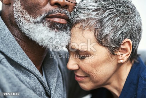 istock Her safest place is in his arms 886569096