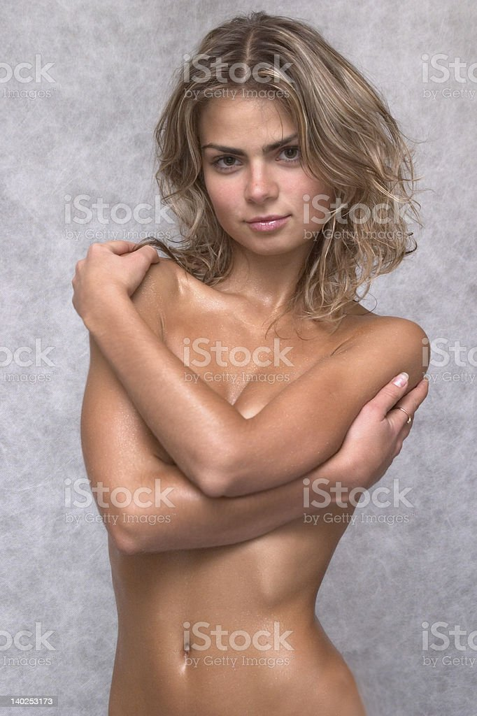Her sexy glance royalty-free stock photo