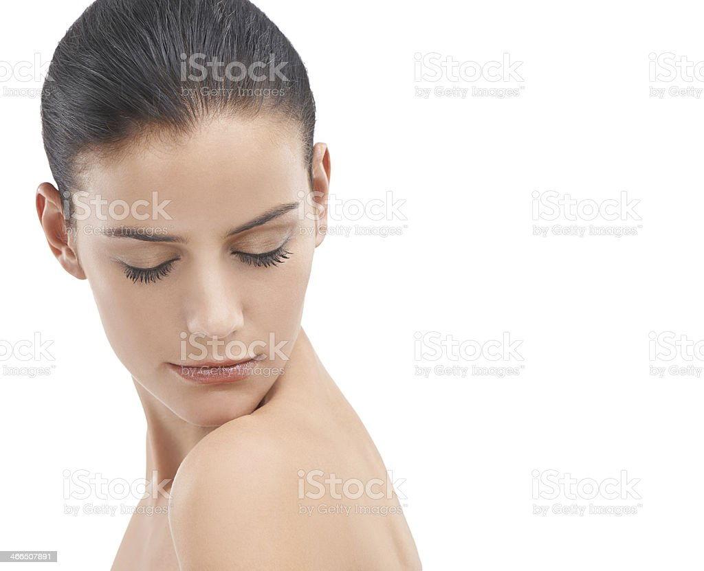 Her skin is silky smooth royalty-free stock photo