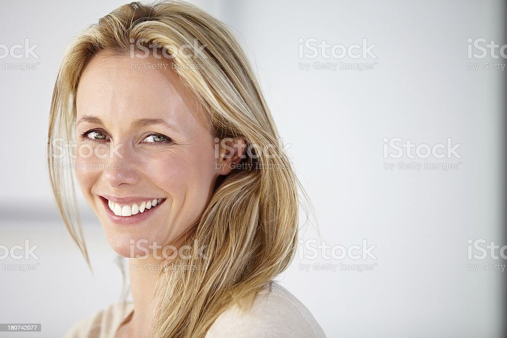 Her smile could brighten any room! stock photo