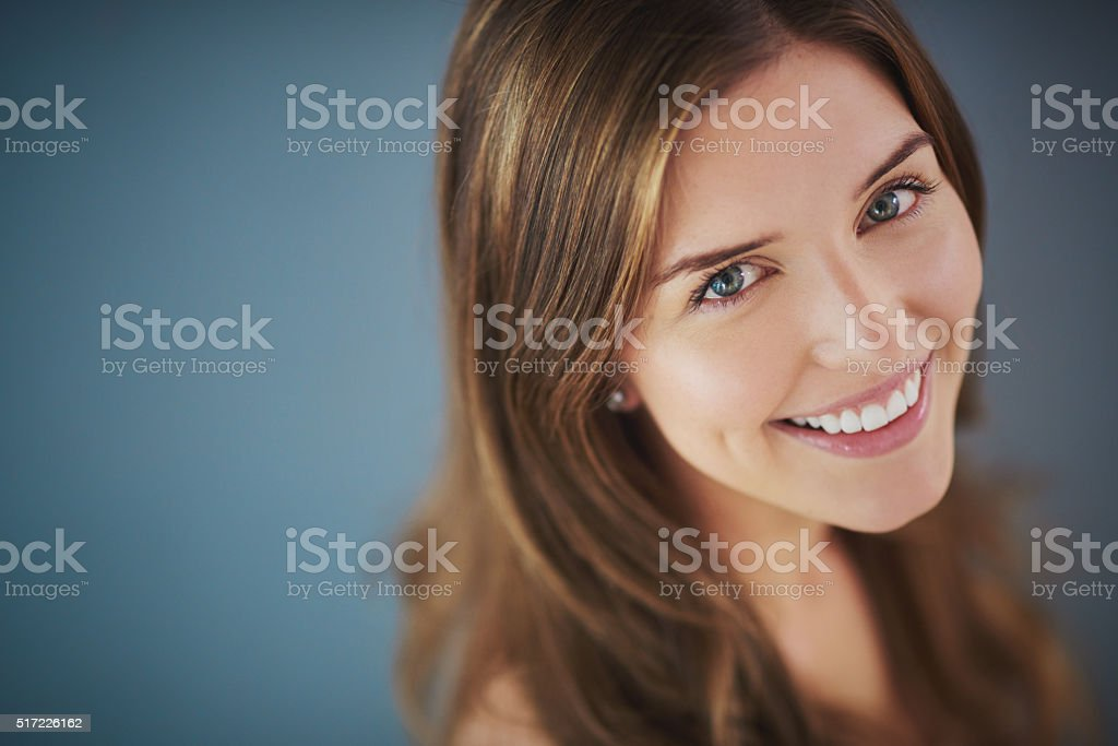 Her smile is like no other stock photo
