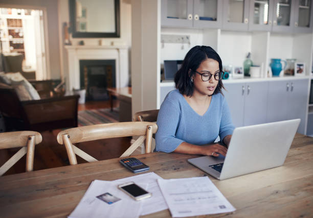 Her space for some productivity stock photo