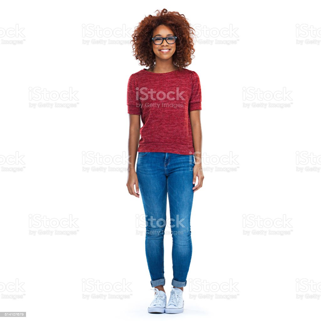 Her style is her own stock photo