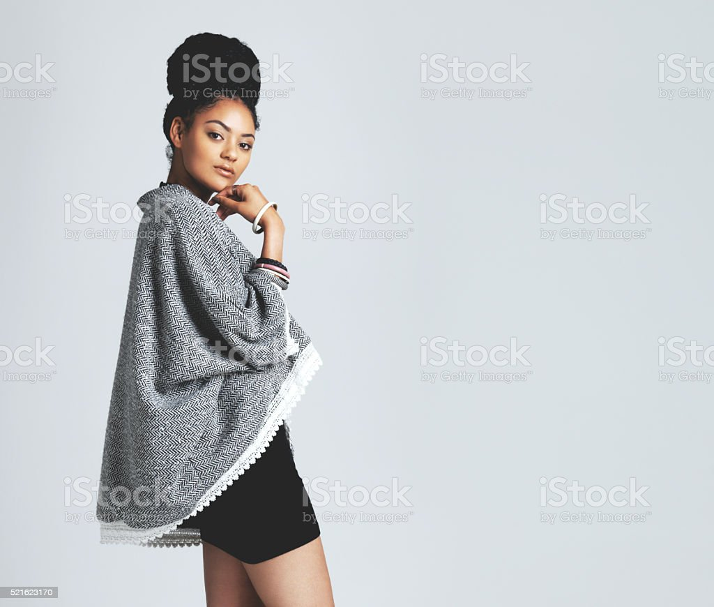 Her style is undeniable stock photo