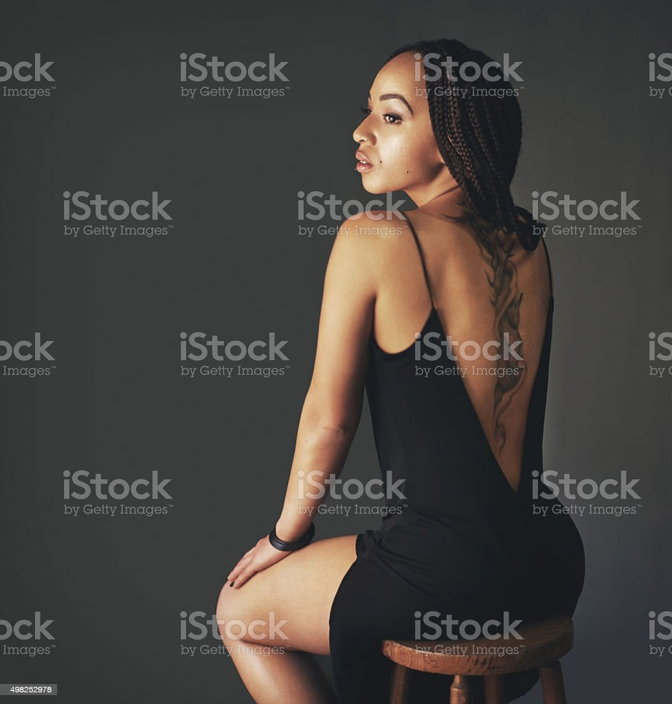 Her style says a lot about her stock photo