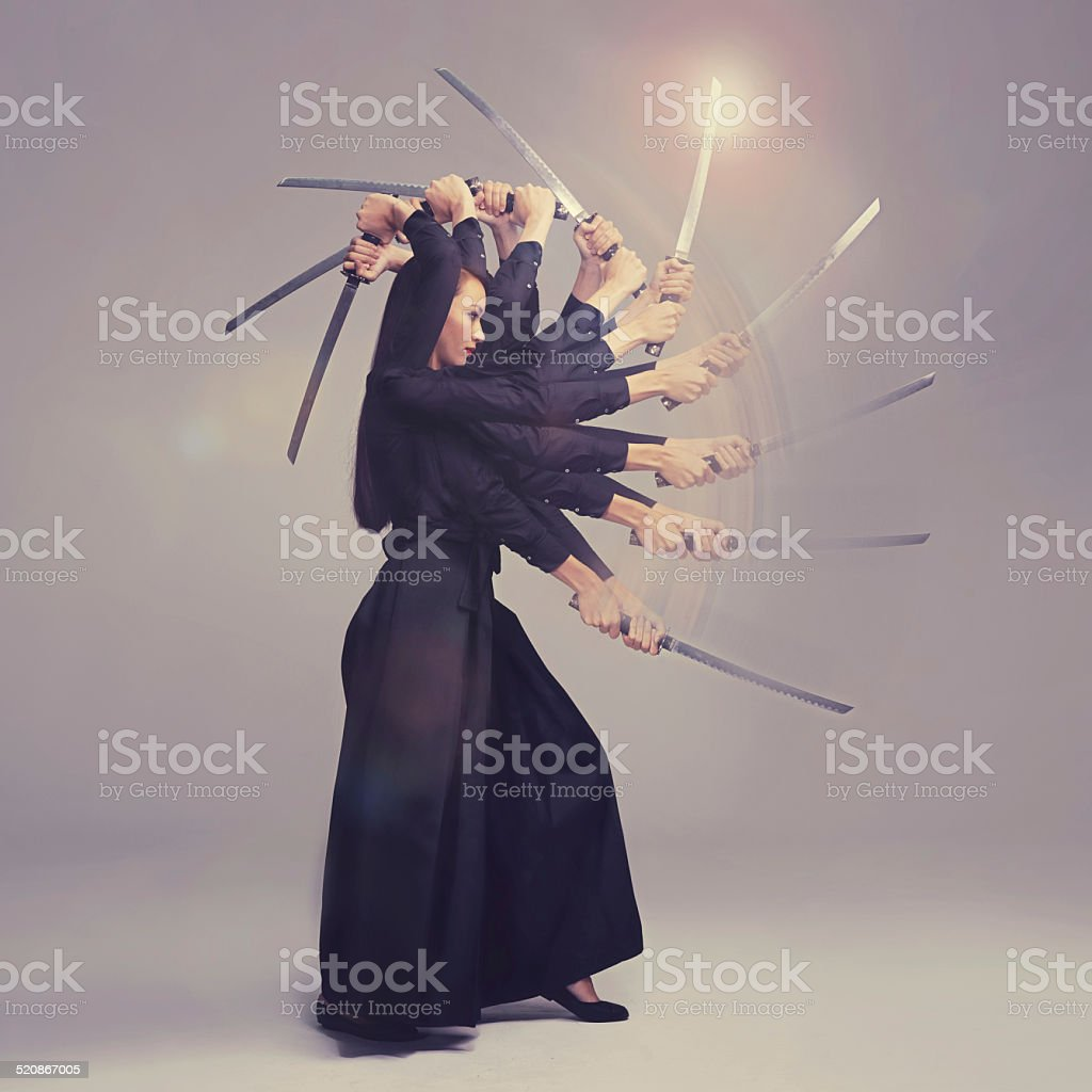 Her technique is flawless stock photo
