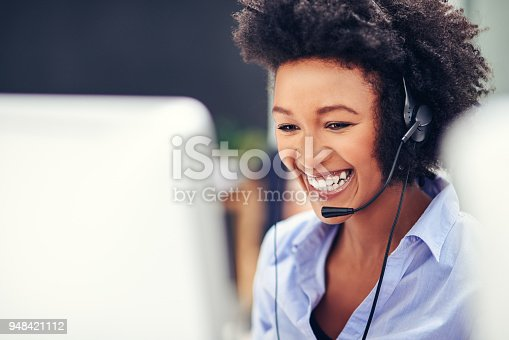 istock Her voice puts customers at ease 948421112