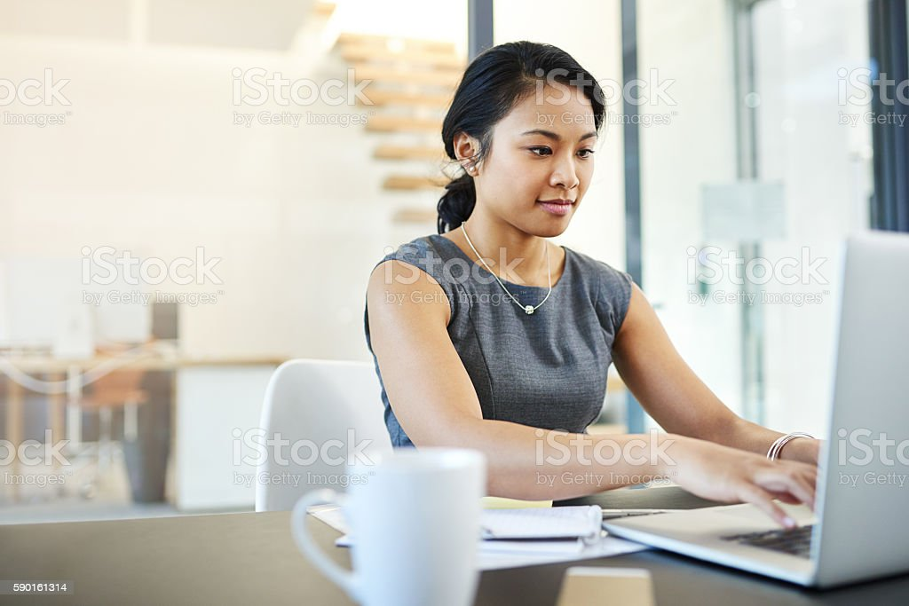 Her work is always of an exceptional standard stock photo