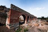 Heraclea Lyncestis Excavation Ruins Aqueduct
