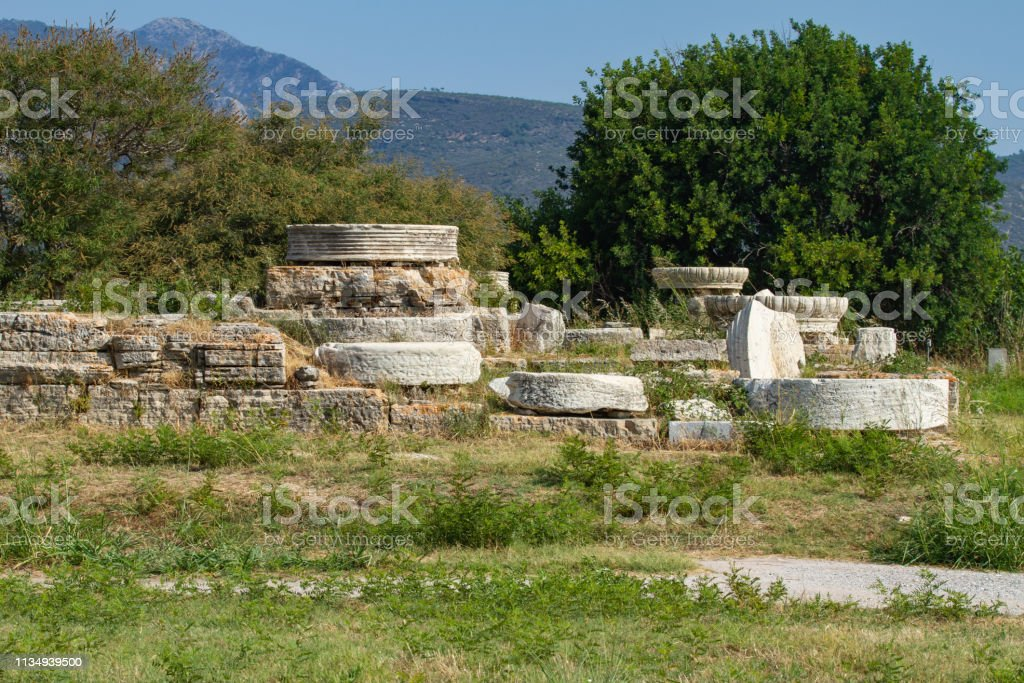 Heraion Archeological Site Samos Island Greece Stock Photo Download Image Now Istock