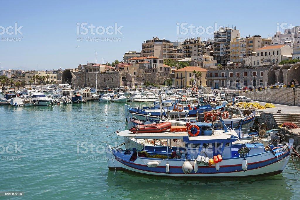 Heraklion harbour. Crete, Greece royalty-free stock photo