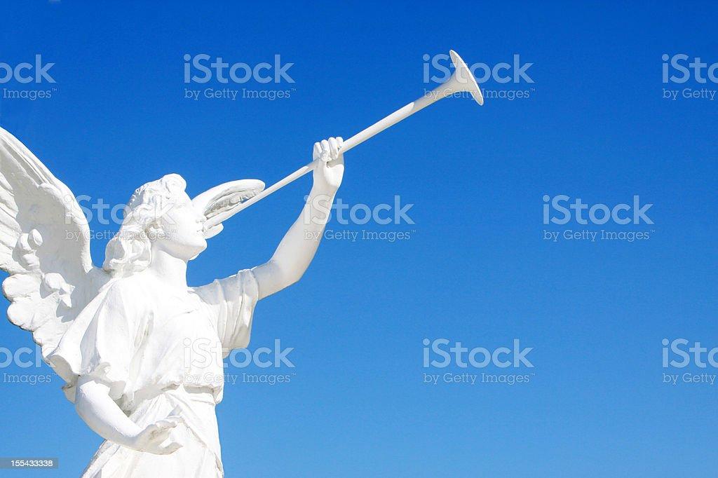 Herald Angel Statue stock photo