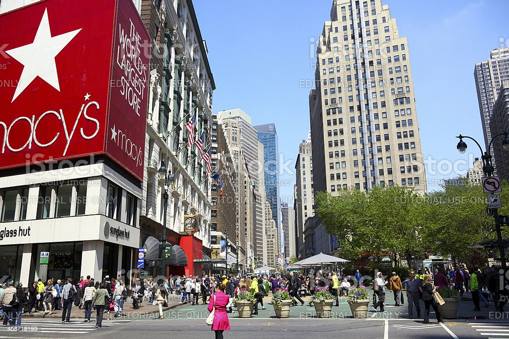 Herald Square in New York City stock photo