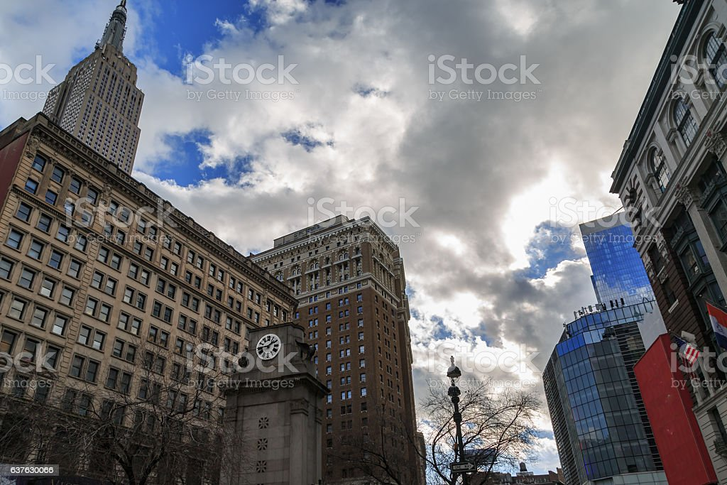 Herald square watch tower. stock photo