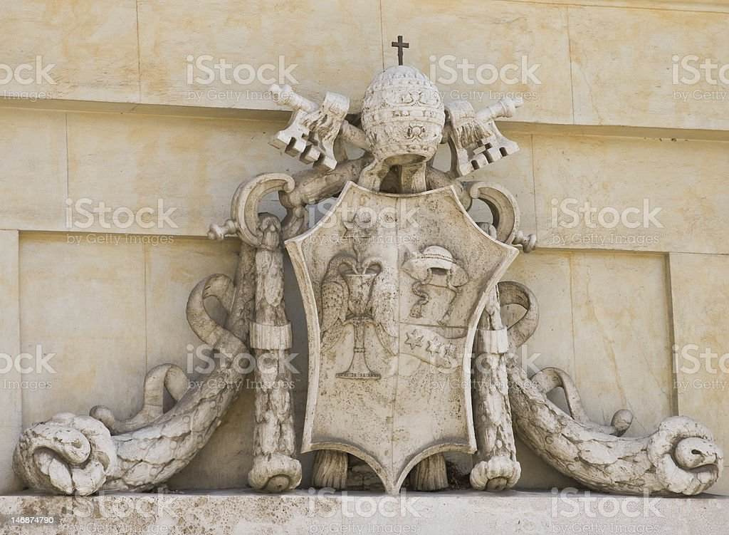Heraldry of Pope Gregory the 16th stock photo