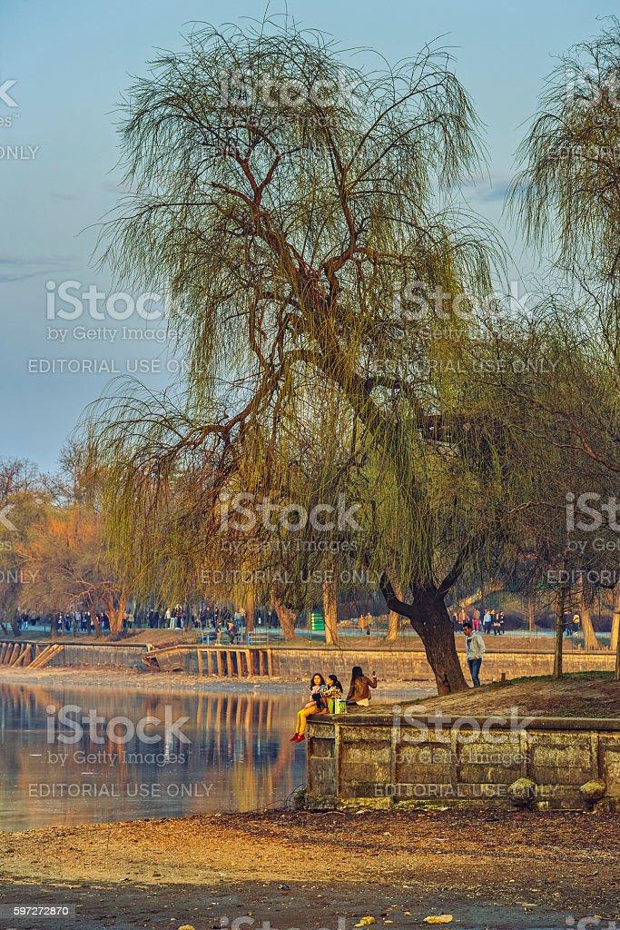 Herestrau park, Bukarest, Rumänien Lizenzfreies stock-foto
