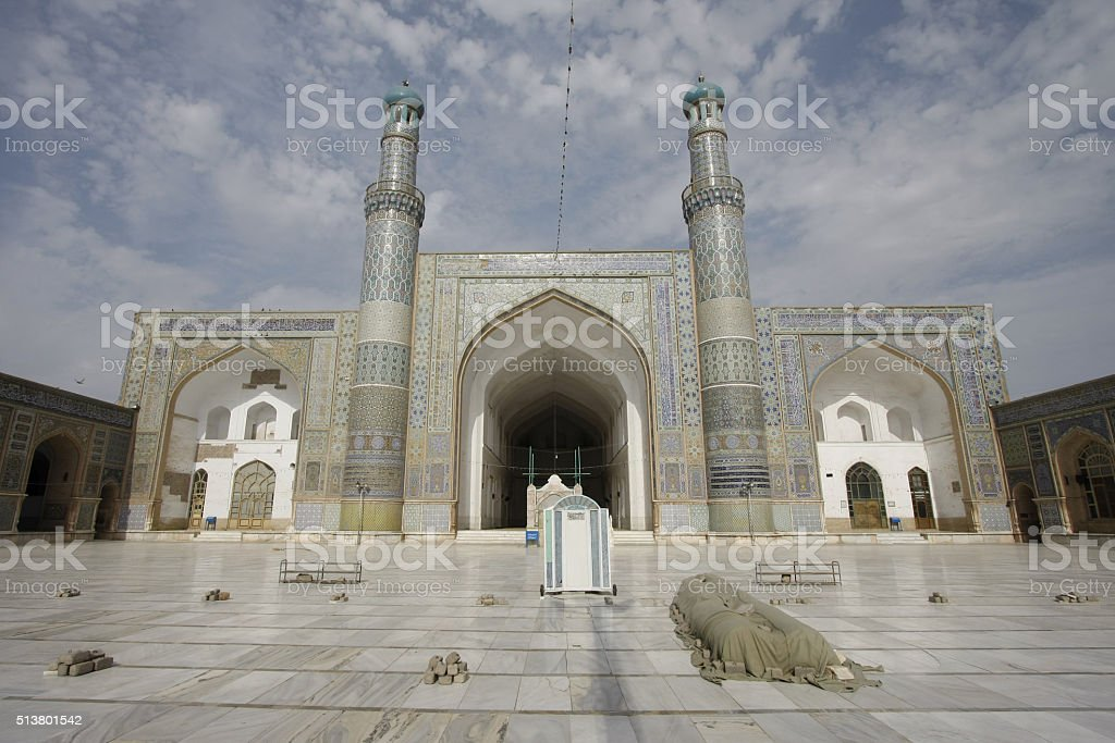 Herat Friday Mosque Courtyard stock photo