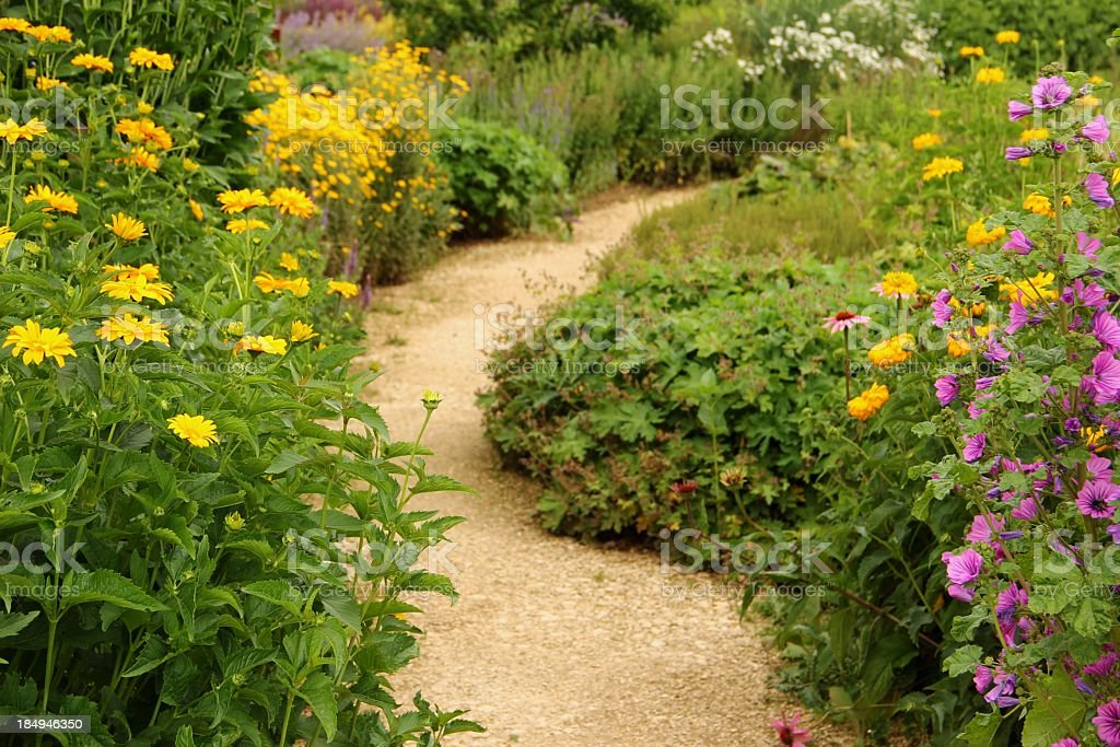 Herb and flower garden royalty-free stock photo