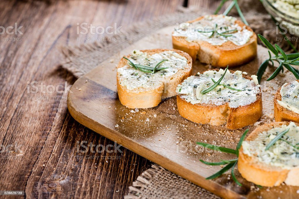 Herb Butter Baguette stock photo