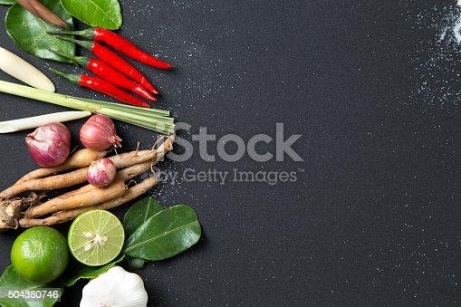 Beautiful thai food on  black background
