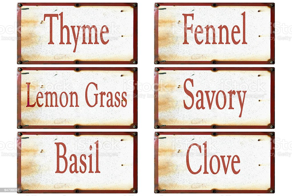 Herb labels number3 thyme royalty-free stock photo