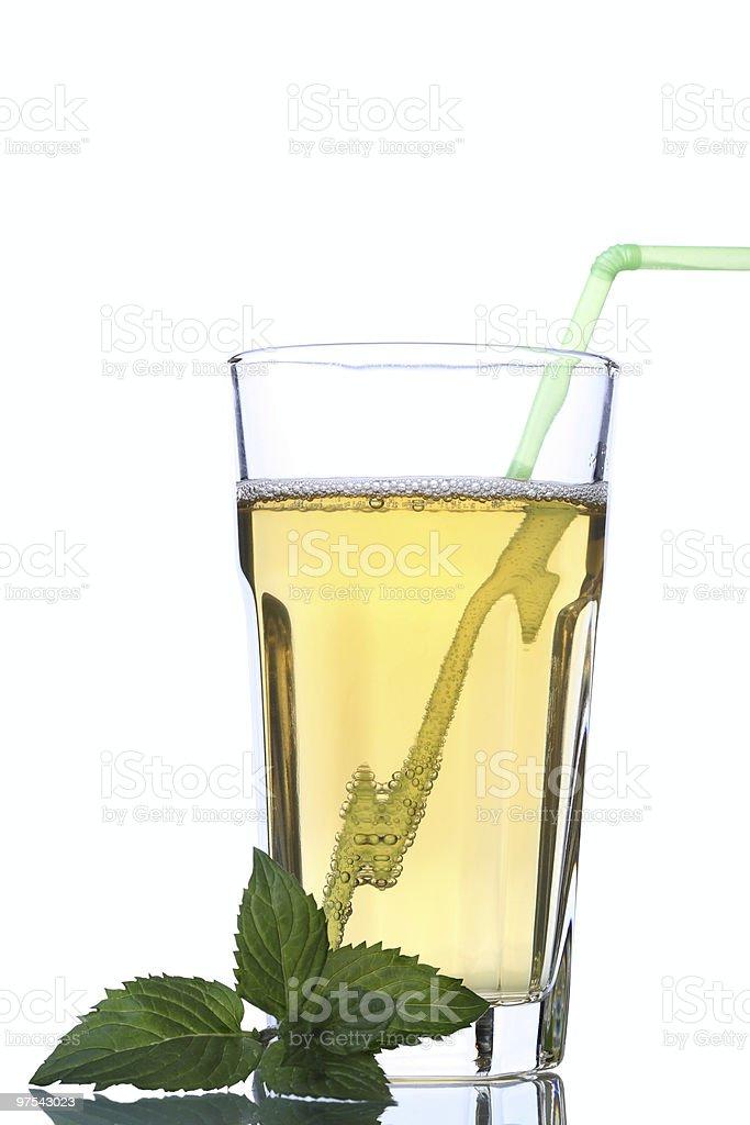 Verre de limonade aux herbes photo libre de droits