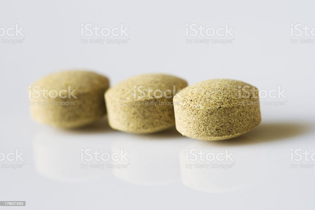 herb pills royalty-free stock photo
