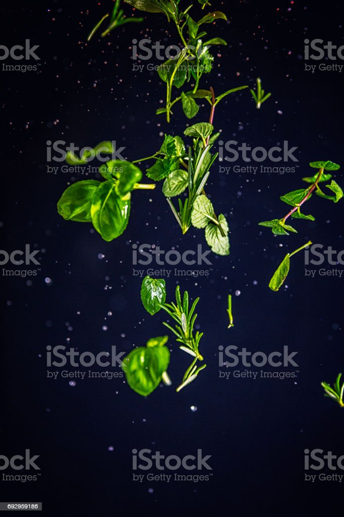 Herb Spice Mix Food Explosion stock photo