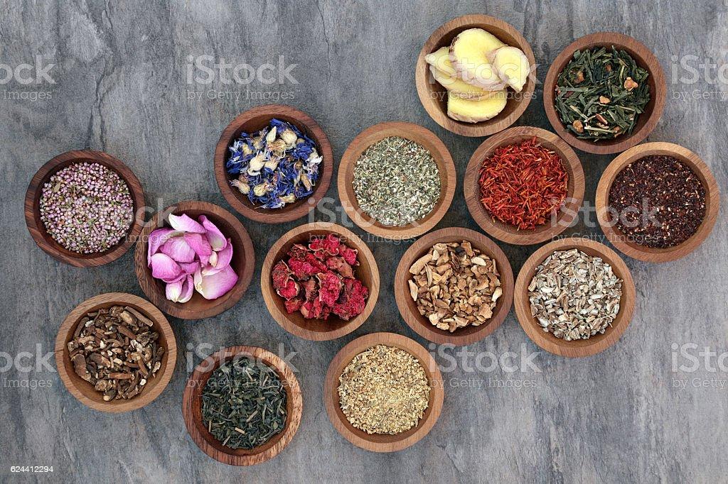 Herb Tea Collection stock photo