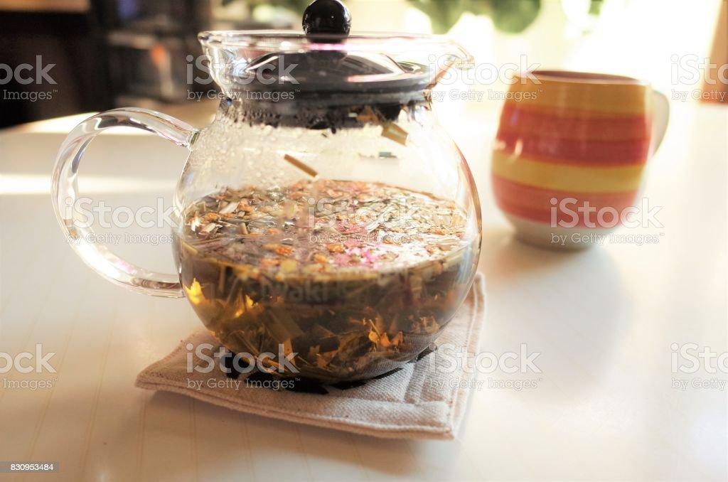 Herb tea stock photo